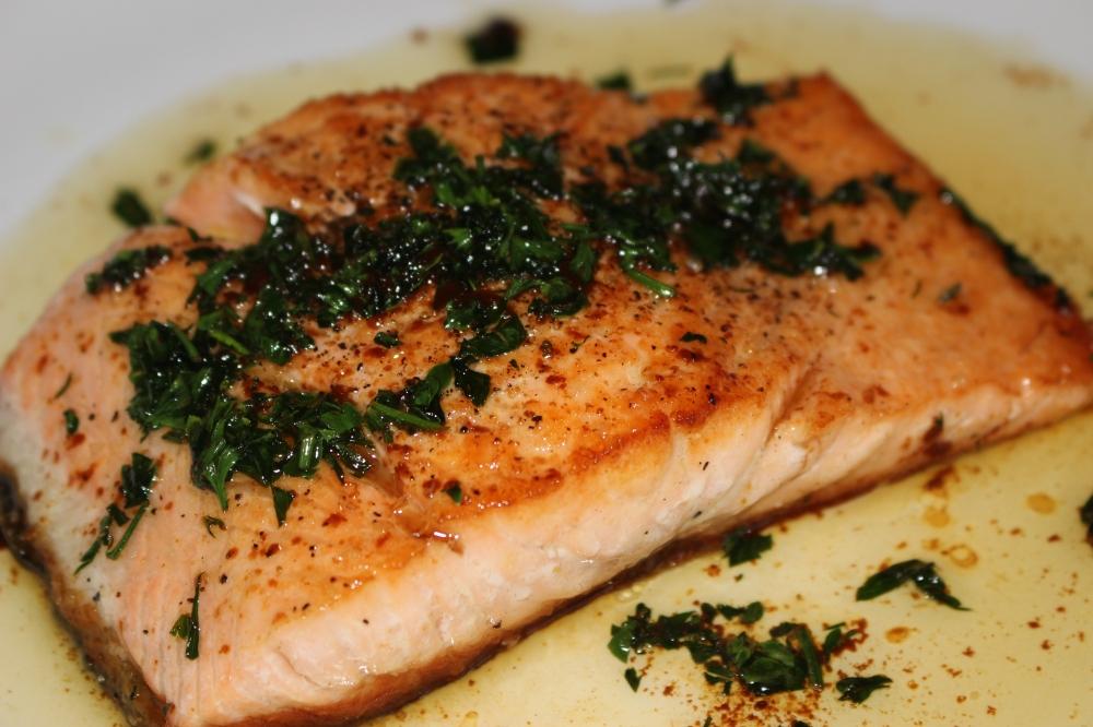 Seared Salmon in Soy Butter Sauce.JPG